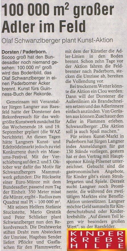 Kornbrandzeichen In Einem Feld Von Olaf Schwanzlberger Ein 100 000